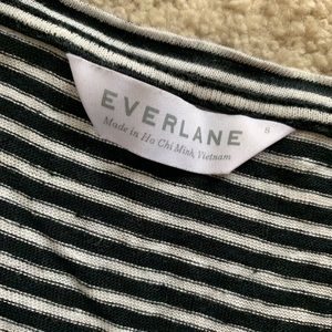 Everlane Tops - Everlane Scoop Neck Striped Linen T-Shirt Size S